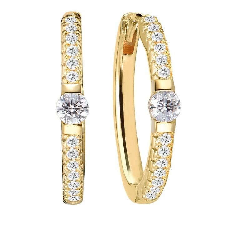 earrings, Sif Jakobs Jewellery, Ellera Uno Grande Earrings 18 Carat Yellow Gold