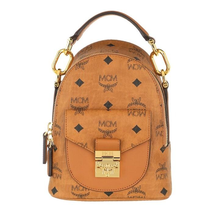 Reisetasche, MCM, X-Mini Patricia Visetos Backpack Cognac