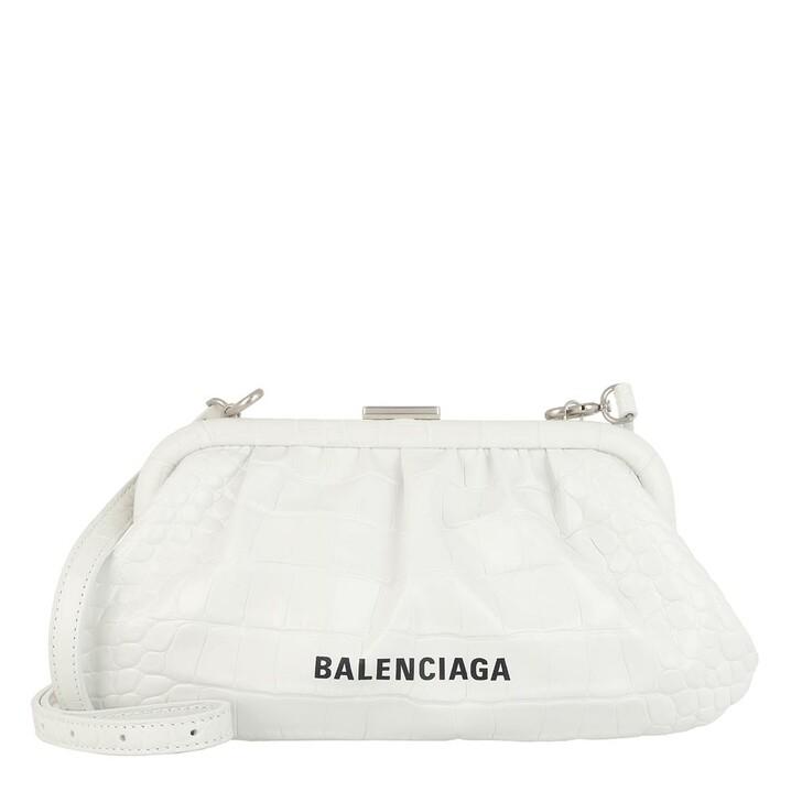 Handtasche, Balenciaga, Cloud XS Clutch With Strap White