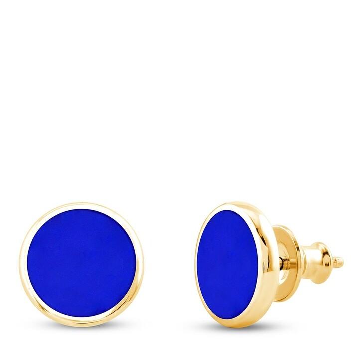 earrings, Pukka Berlin, Custom Ceramic Disc Earrings Yellow Gold