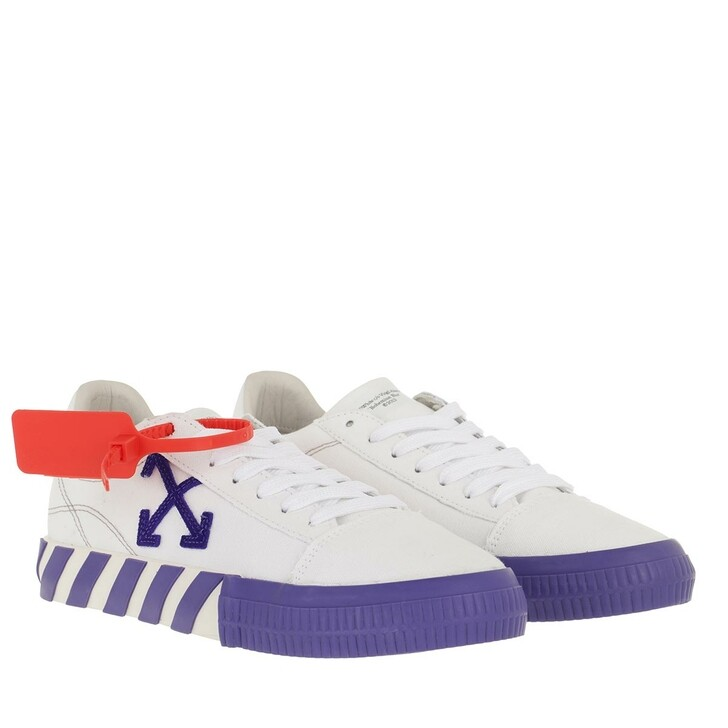 Schuh, Off-White, Canvas Low Vulcanized Sneakers White Violet