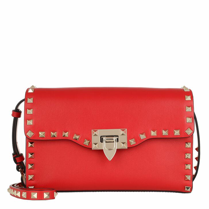 Handtasche, Valentino, Rockstud Crossbody Bag Red