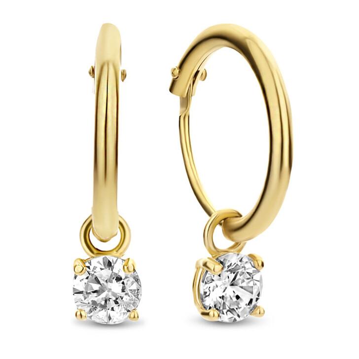 earrings, Isabel Bernard, Le Marais Ophã©Lie 14 Karat Hoop Earrings With Zir Gold