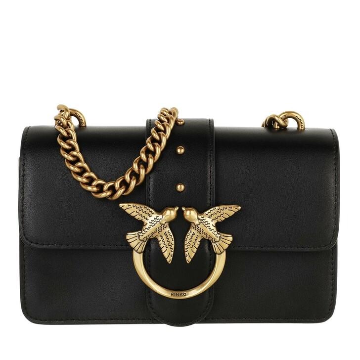 bags, Pinko, Love Mini Icon Simply 10 Cl Vi Nero Limousine