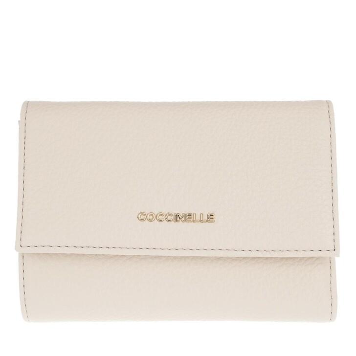 Geldbörse, Coccinelle, Metallic Soft Wallet Lambskin White
