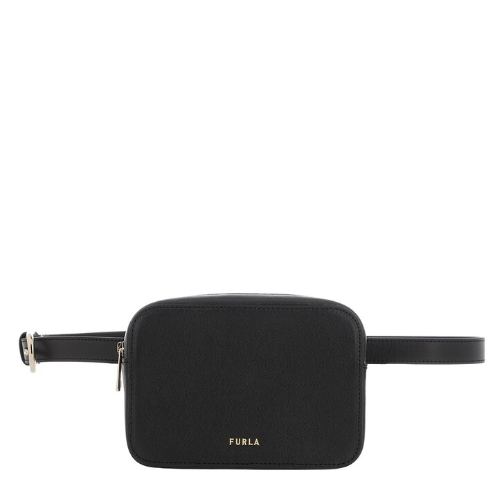 Gürteltasche, Furla, Block Mini Belt Bag Nero