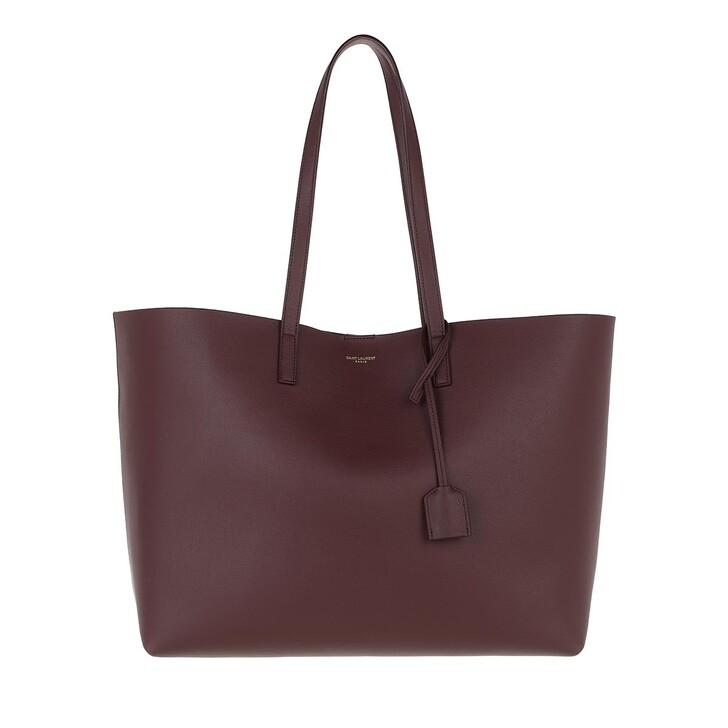 bags, Saint Laurent, East West Medium Tote Leather Rouge Legion