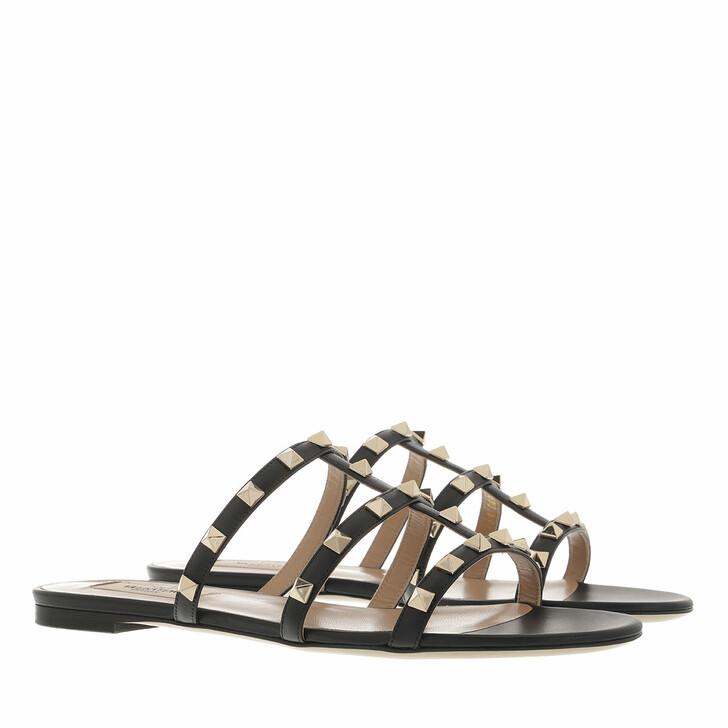 shoes, Valentino Garavani, Rockstud Sandals Black
