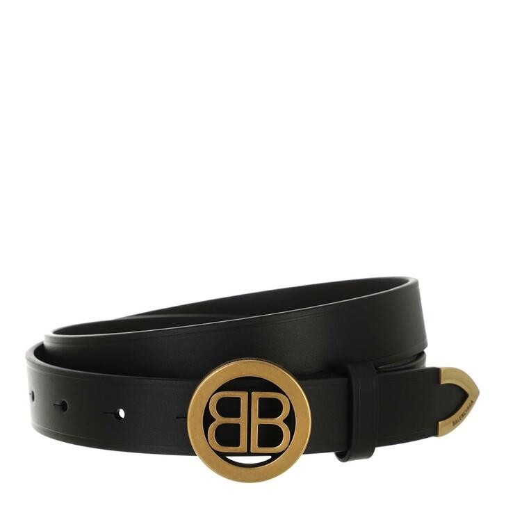 belts, Balenciaga, Circled BB Belt Black