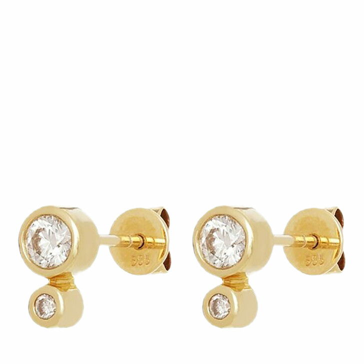 earrings, VOLARE, Earring Studs 4 brill ca. 0,60 Yellow Gold