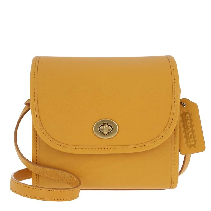 Handtasche, Coach, Turnlock Lunchbox Pouch Buttercup