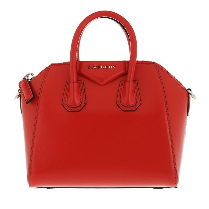 bags, Givenchy, Antigona Mini Bowling Bag Red