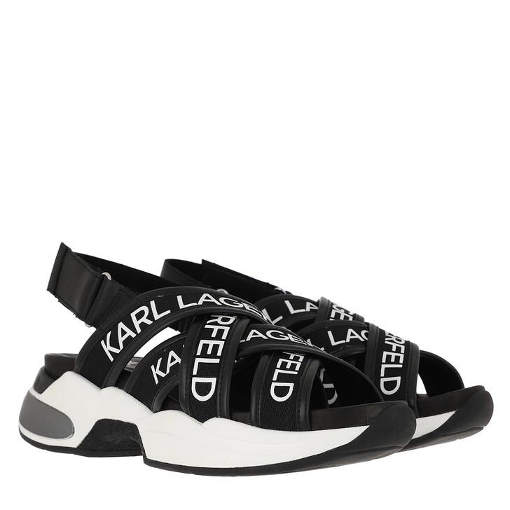 Schuh, Karl Lagerfeld, VENTURA Karl Multi-Strap Black Lthr & Textile