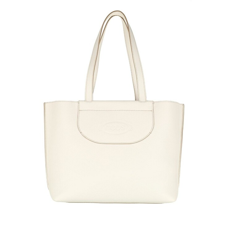 Handtasche, Tod's, Medium Shopping Bag Leather White
