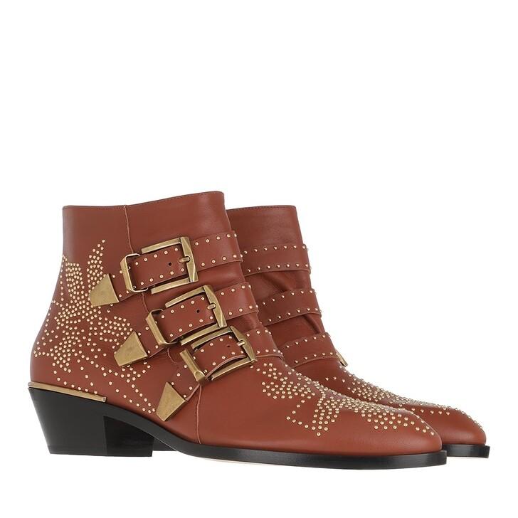 Schuh, Chloé, Susanna Nappa Boots Chestnut Brown