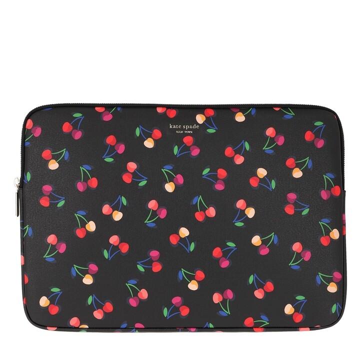 Handtasche, Kate Spade New York, Cherries Universal Laptop Bag   Black Multi