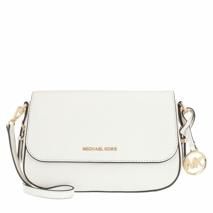 Handtasche, MICHAEL Michael Kors, Large Flap Xbody Optic White