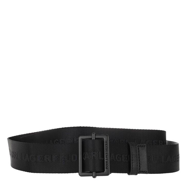 belts, Karl Lagerfeld, Karl Logo Webbing Belt Black