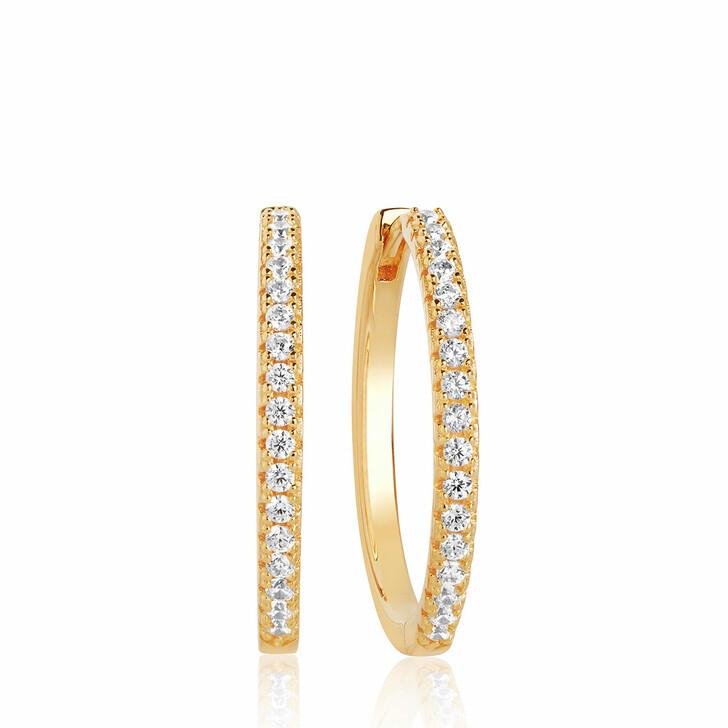 earrings, Sif Jakobs Jewellery, Ellera X-Grande Earrings 18K Yellow Gold Plated