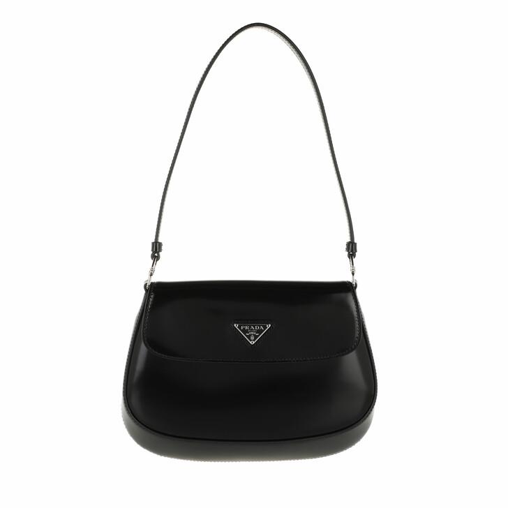bags, Prada, Cleo Shoulder Bag Leather Black