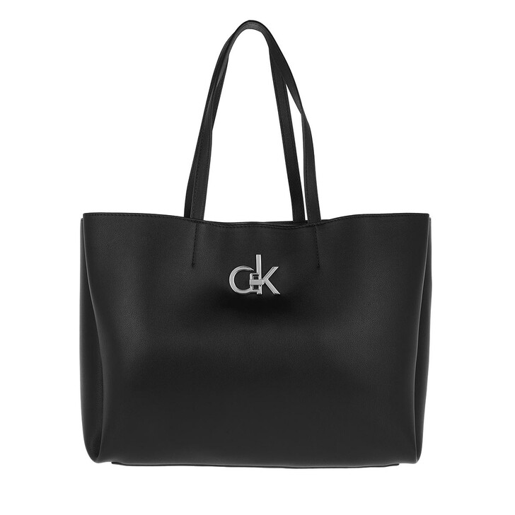 Handtasche, Calvin Klein, Shopping Bag with Laptop Pouch Black