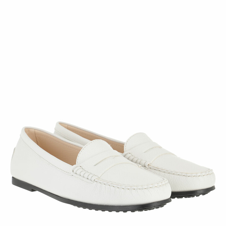 Schuh, Tod's, Gommino Loafers Nubuck White