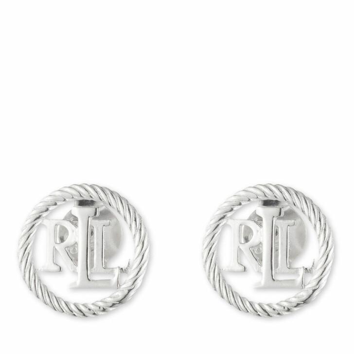 earrings, Lauren Ralph Lauren, Earrings LRL Rope Stud Silver