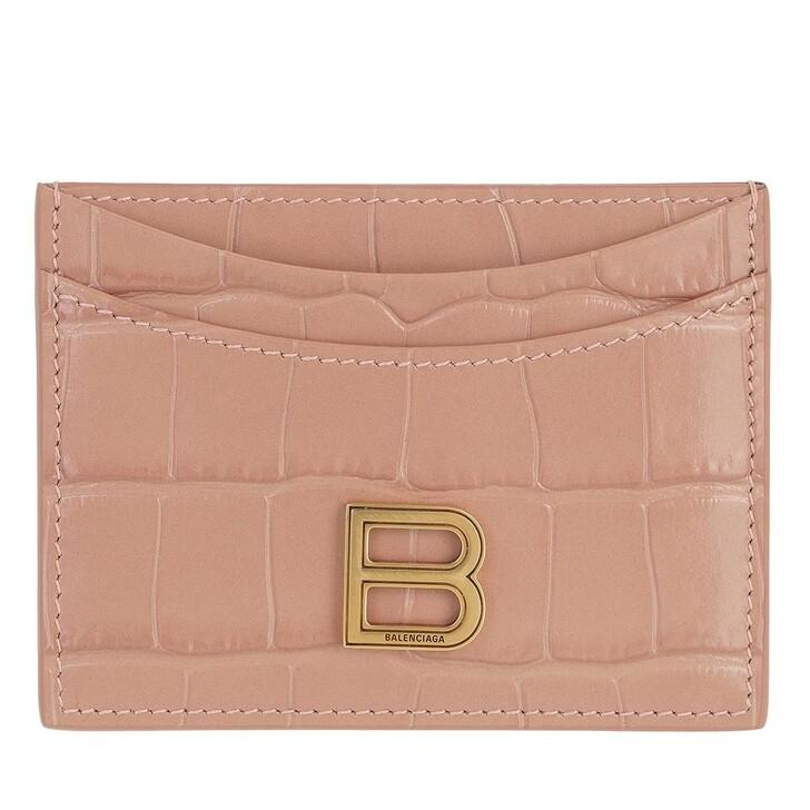 wallets, Balenciaga, Hourglass Card Holder Nude Beige