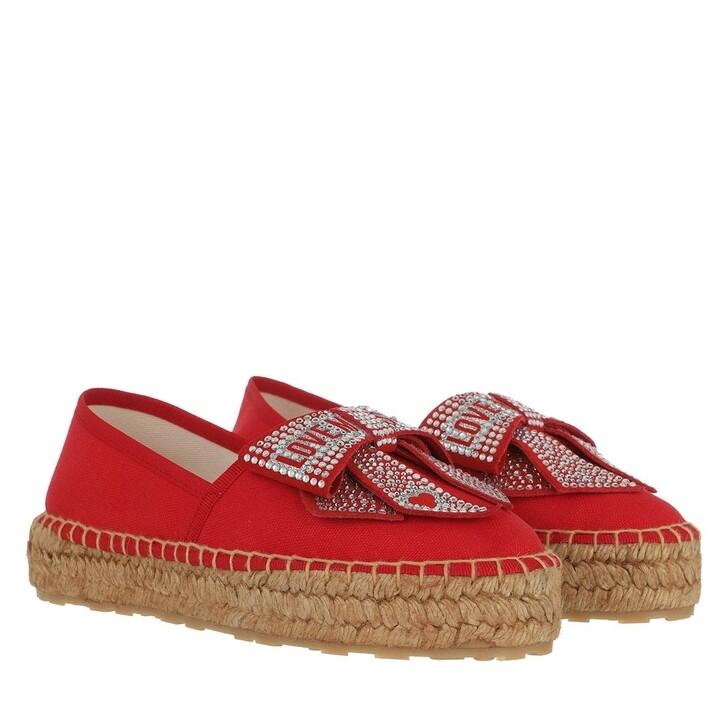Schuh, Love Moschino, Scarpad Espa35 Canvas  Rosso