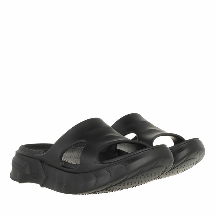shoes, Givenchy, Marshmallow Sandals Rubber Black