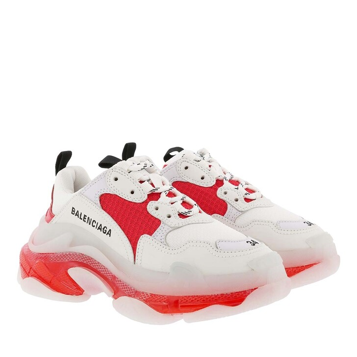 Schuh, Balenciaga, Triple S Sneaker White/Orange