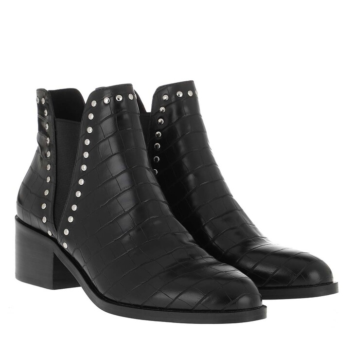 Schuh, Steve Madden, Cade Bootie Leather Black Croco