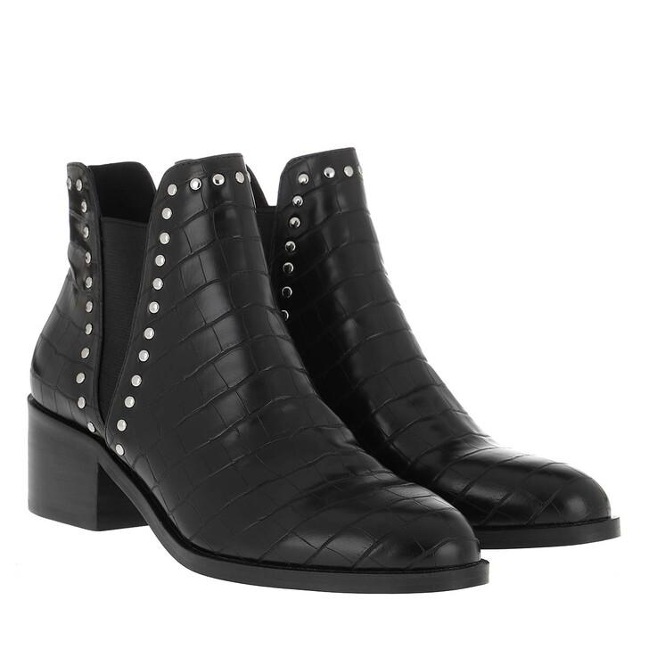 Schuh, Steve Madden, Cade Bootie Leather Black Croco