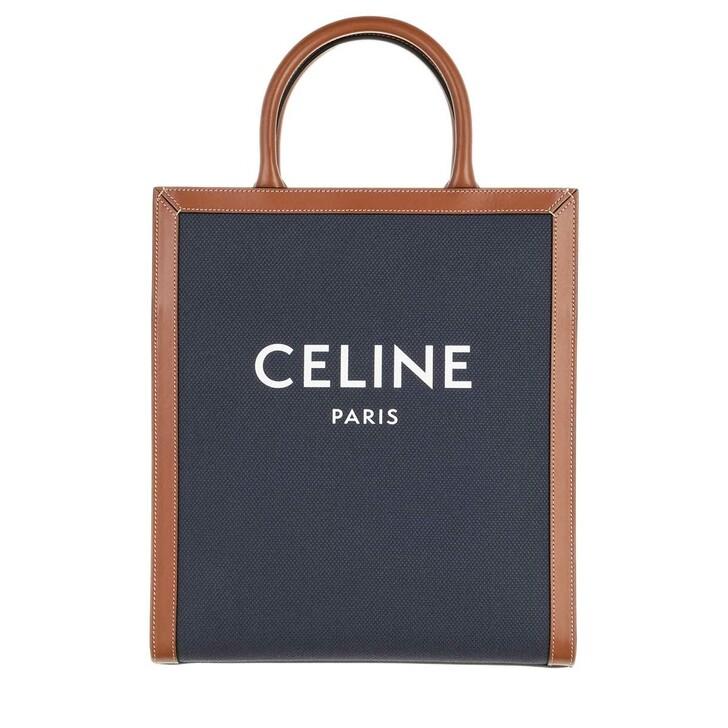Handtasche, Celine, Small Vertical Cabas Tote Bag Blue