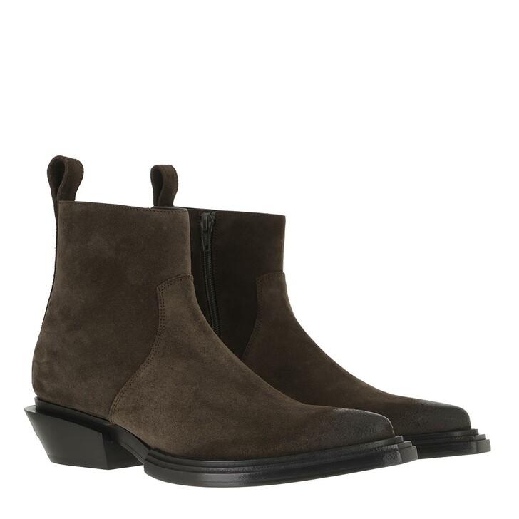 Schuh, Balenciaga, Santiago Bootie Leather Kaki