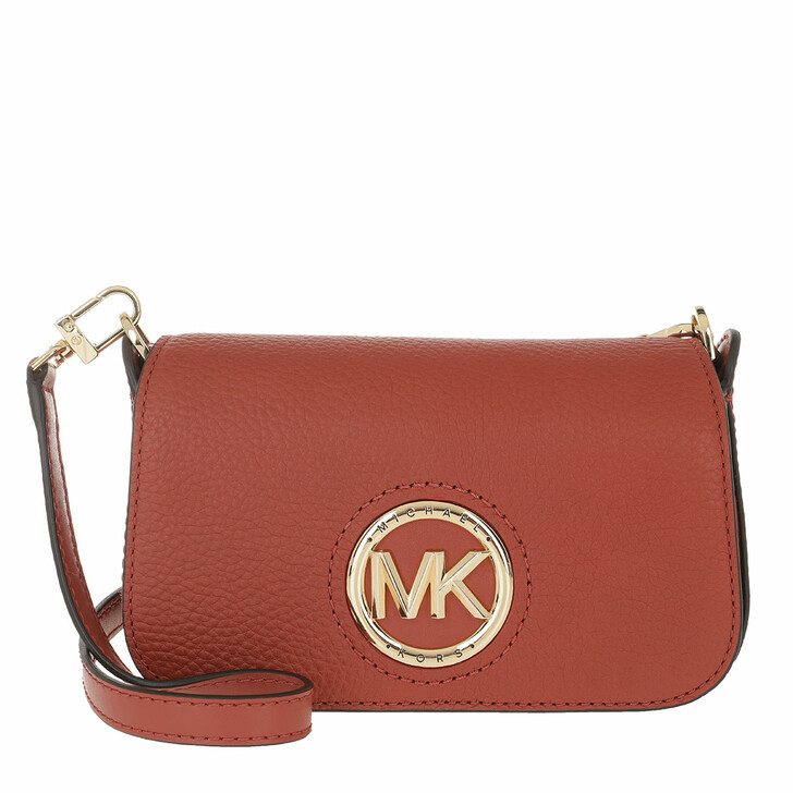 Handtasche, MICHAEL Michael Kors, Samira Small Convertible Crossbody Bag Terracotta