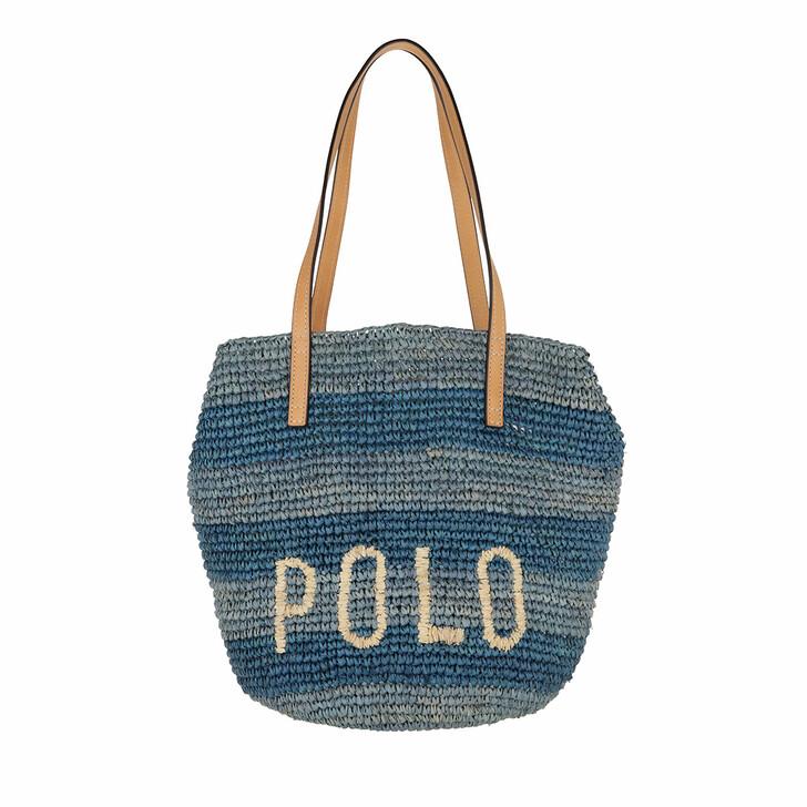 Handtasche, Lauren Ralph Lauren, Medium Raf Tote Medium Blue Multi