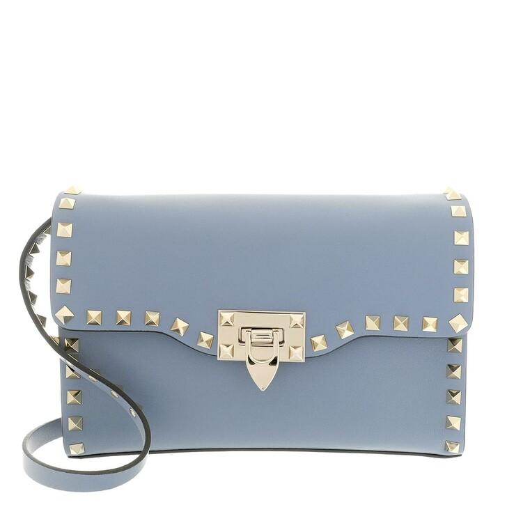 Handtasche, Valentino, Rockstud Crossbody Bag Niagara Blue