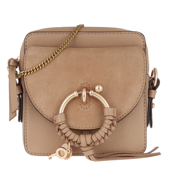 bags, See By Chloé, Joan Camera Bag Leather Coconut Brown
