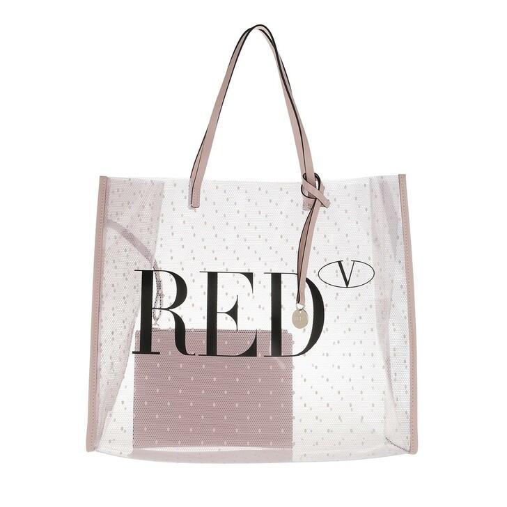 bags, Red Valentino, Tote Trasparente Nude