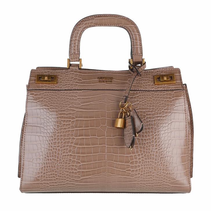 bags, Guess, Katey Large Luxury Satchel Light Rum