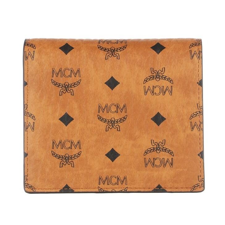 Geldbörse, MCM, Visetos Org W-F16-1 2Fd Wallet Mini  Cognac