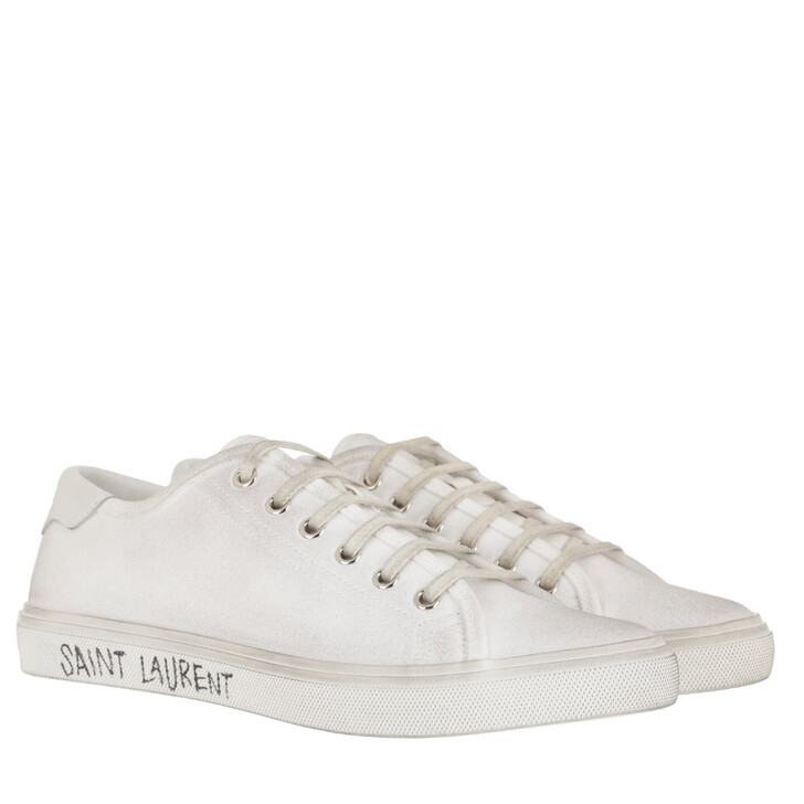 shoes, Saint Laurent, Malibu Canvas Sneakers White