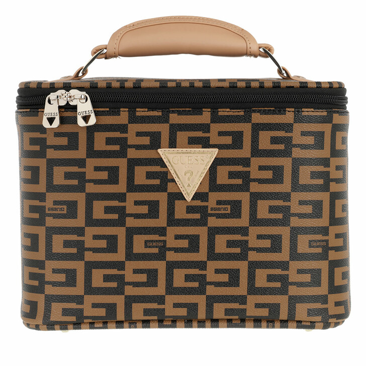 necessaires, Guess, 40Th Anniversary Beauty Case Brown