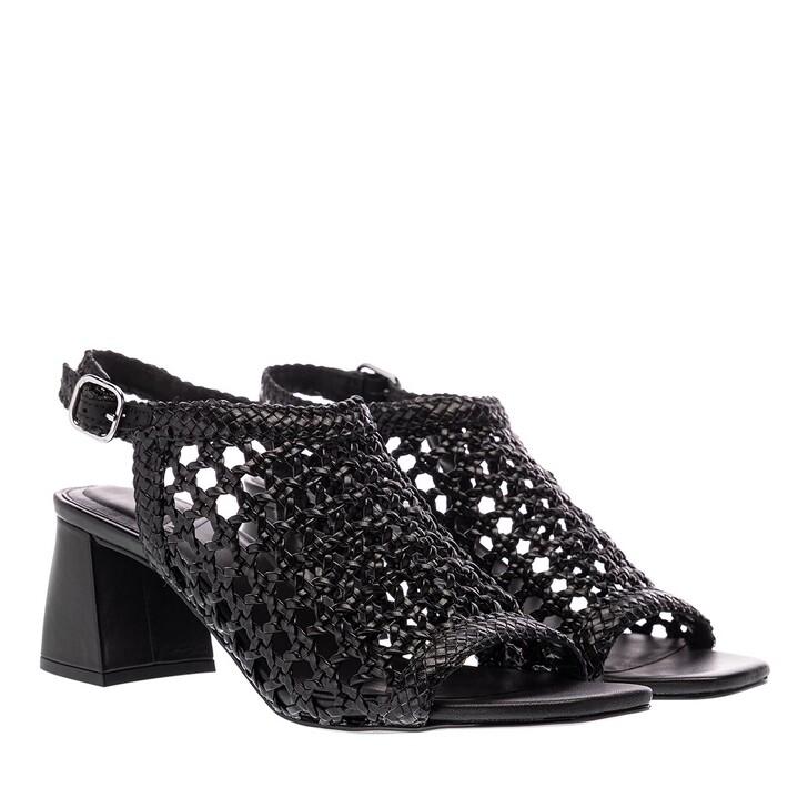 Schuh, What For, Hada Block Heel Sandals Black