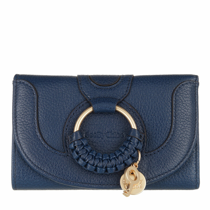 wallets, See By Chloé, Hana Wallet Royal Navy