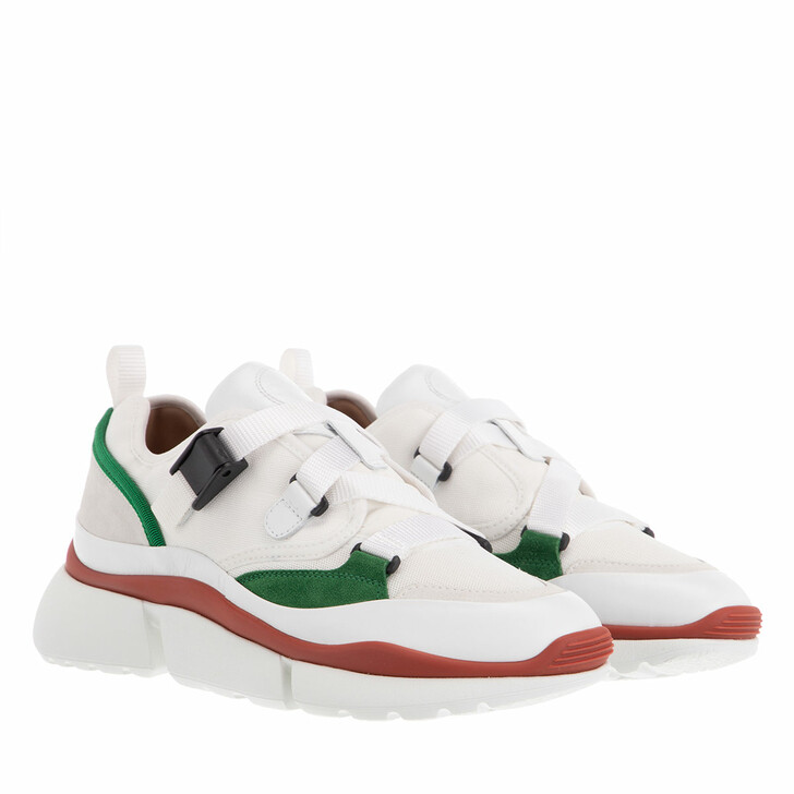 shoes, Chloé, Sonnie Low Top Sneaker Jungle Green