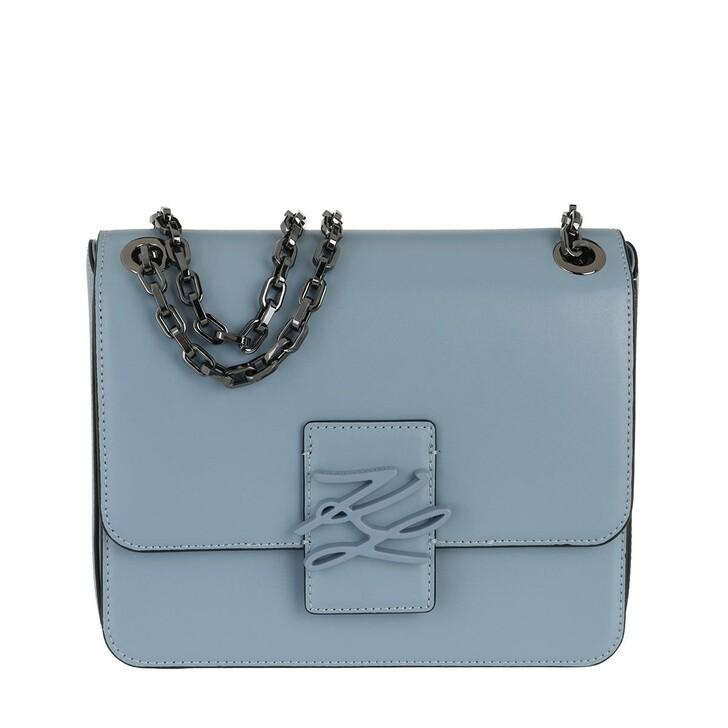 Handtasche, Karl Lagerfeld, Autograph Shoulderbag Smoked blue