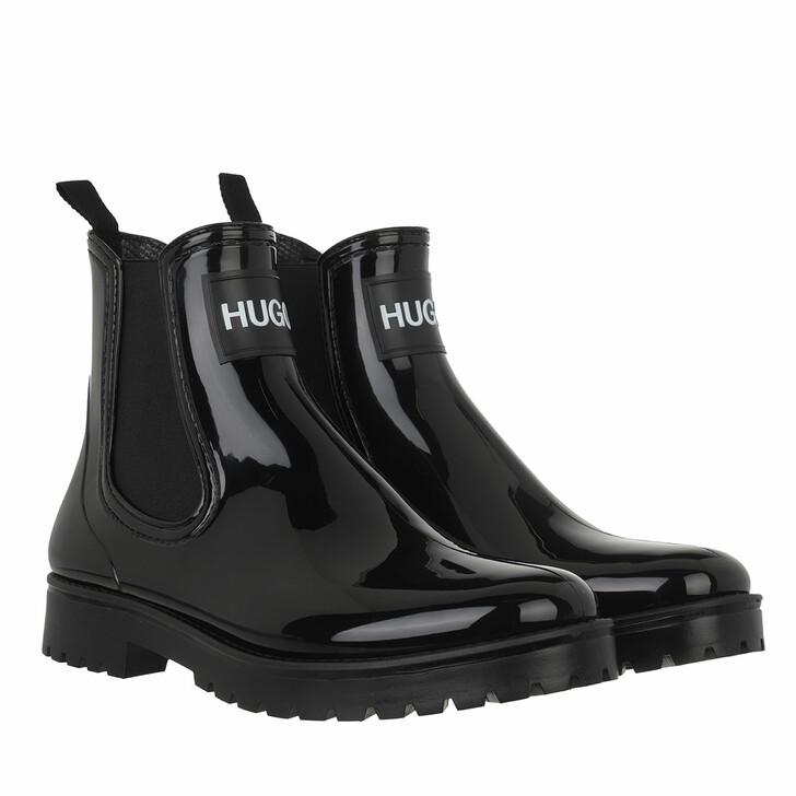 shoes, Hugo, Tabita Rain Bootie Black