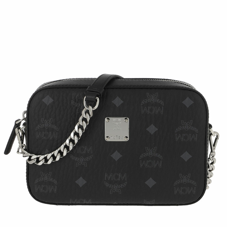 Handtasche, MCM, Visetos O Camera Bag Crossbody Mini   Black